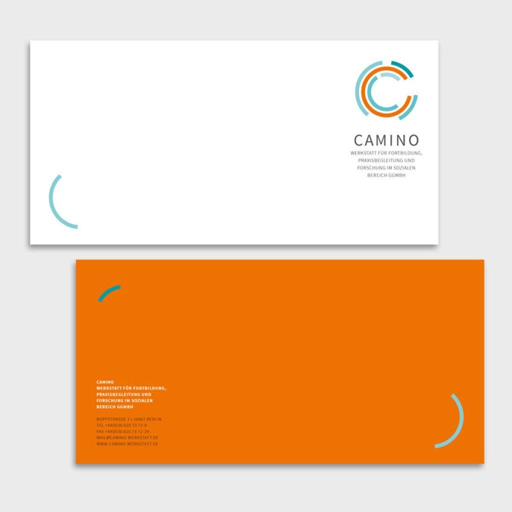 Corporate Design für Camino – Werkstatt für Fortbildung, Praxisbegleitung und Forschung im sozialen Bereich gGmbH
