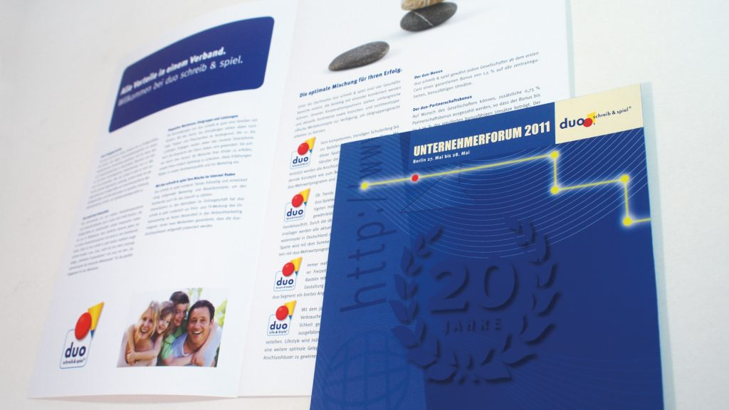 Corporate Design für den Fachhändlerverband duo schreib & spiel