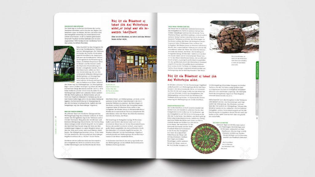 Editorial Design Mühlenland-Magazin