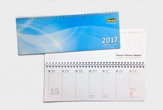 Tischkalender im Querformat