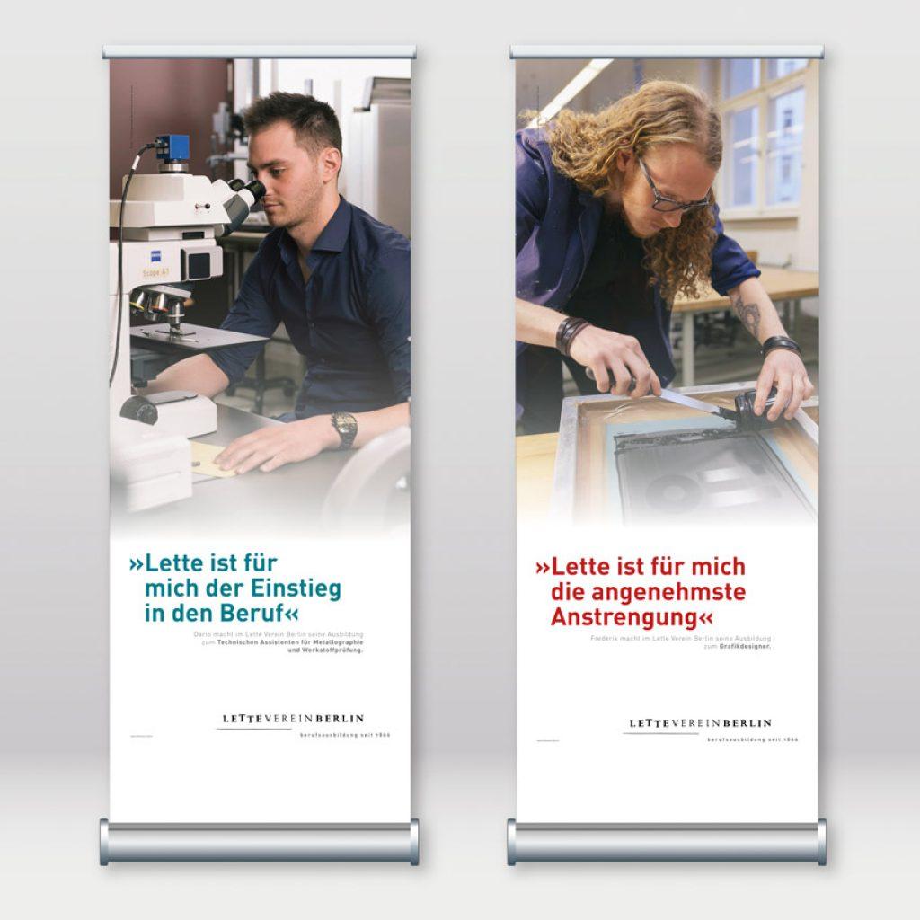 Rollup-Serie als Werbemittel für den Lette-Verein Berlin