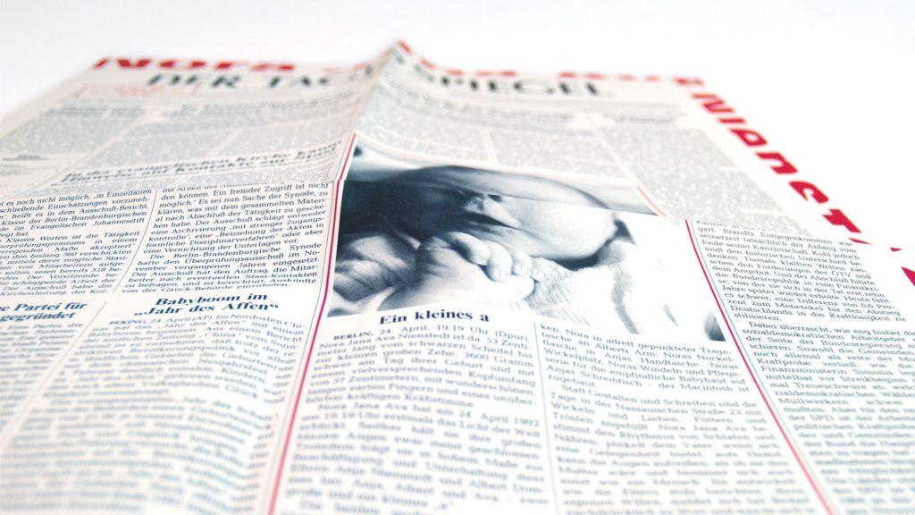 Sonderseite des Berliner Tagesspiegel