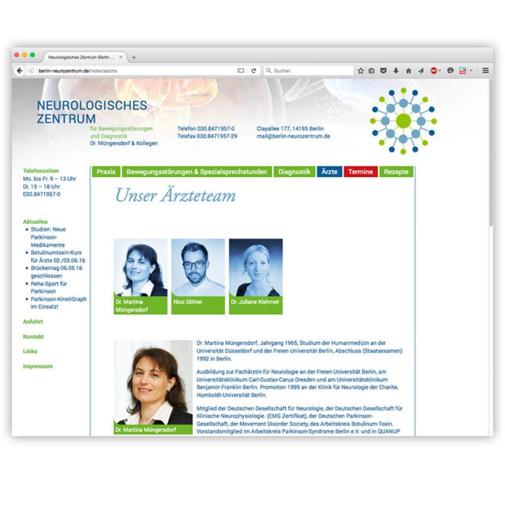 Homepage des Neurologischen Zentrums Berlin
