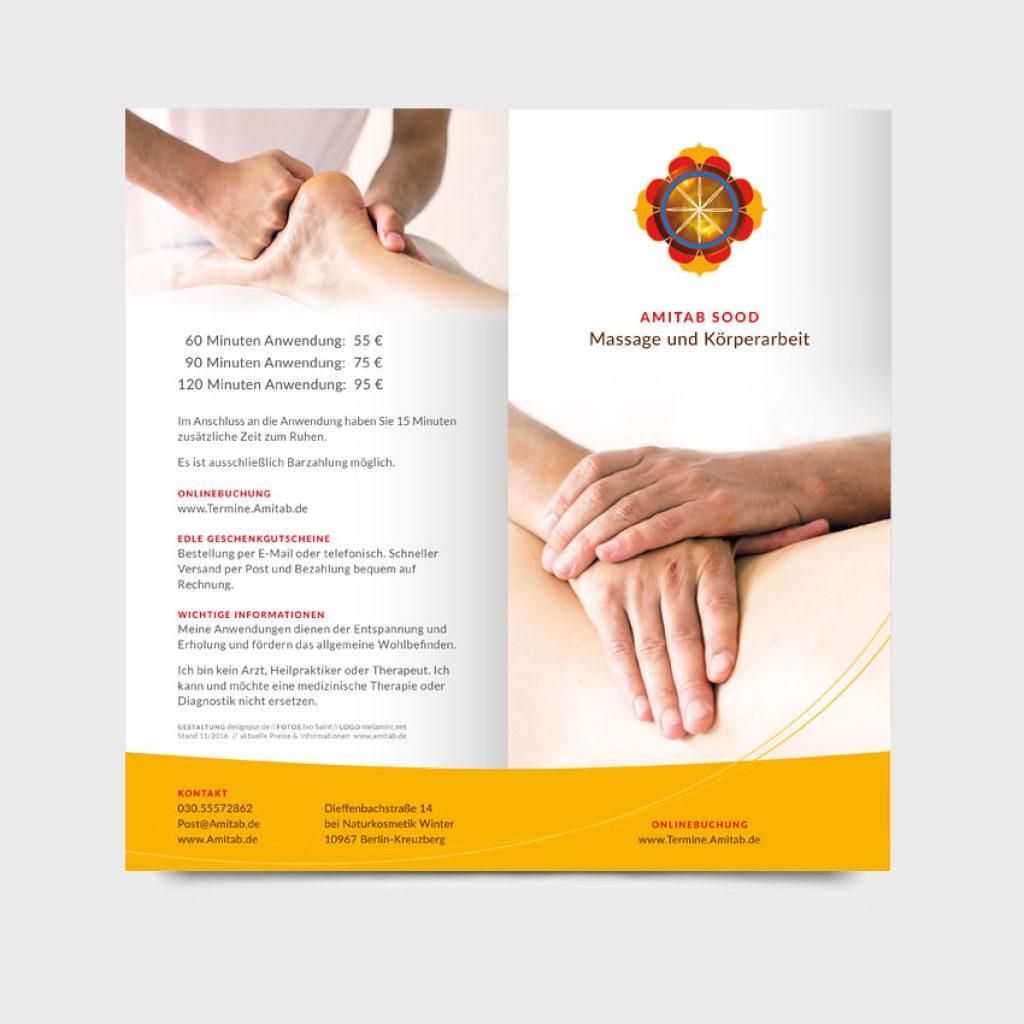 Werbemittel für Amitab Sood