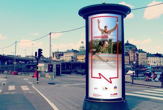 Adaptionen für die Para Leichtathletik EM 2018 im Auftrag von Berlin Partner