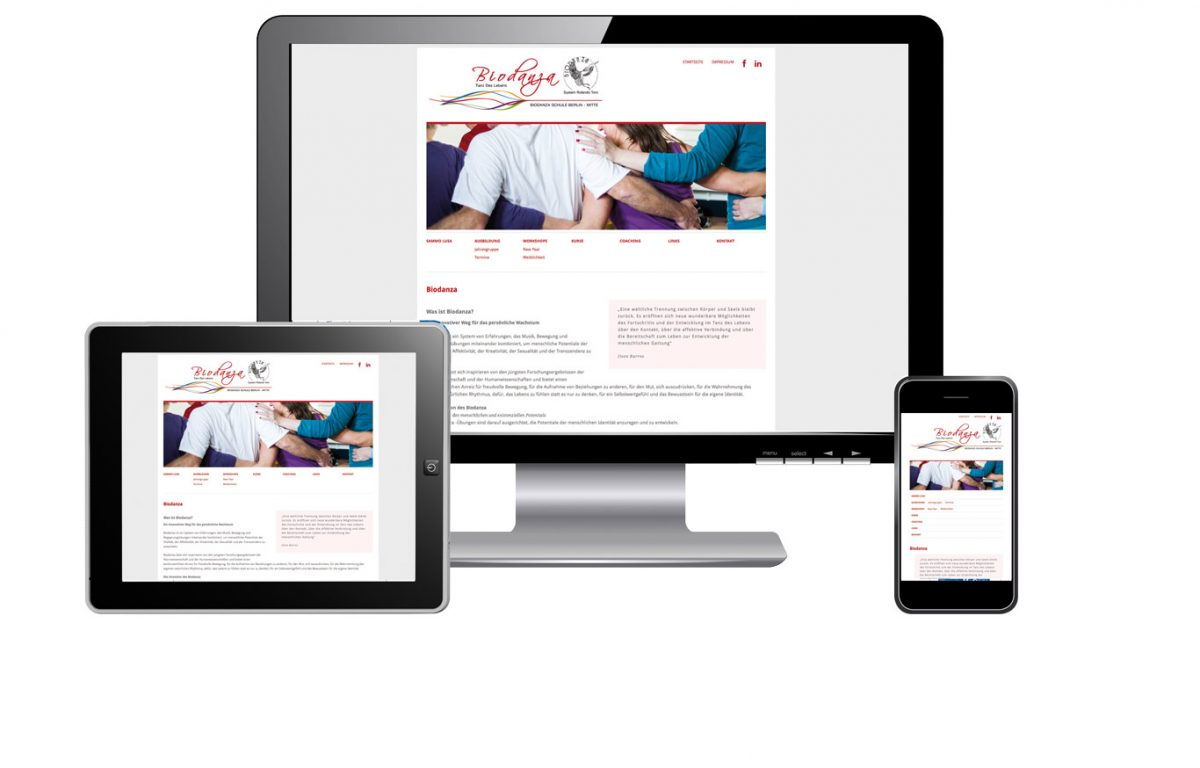 Webseite Biodanza in Berlin