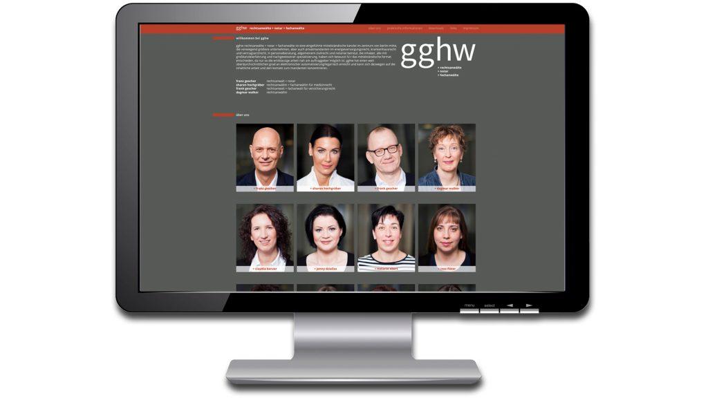 Corporate Design für die Rechtsanwaltskanzlei gghw