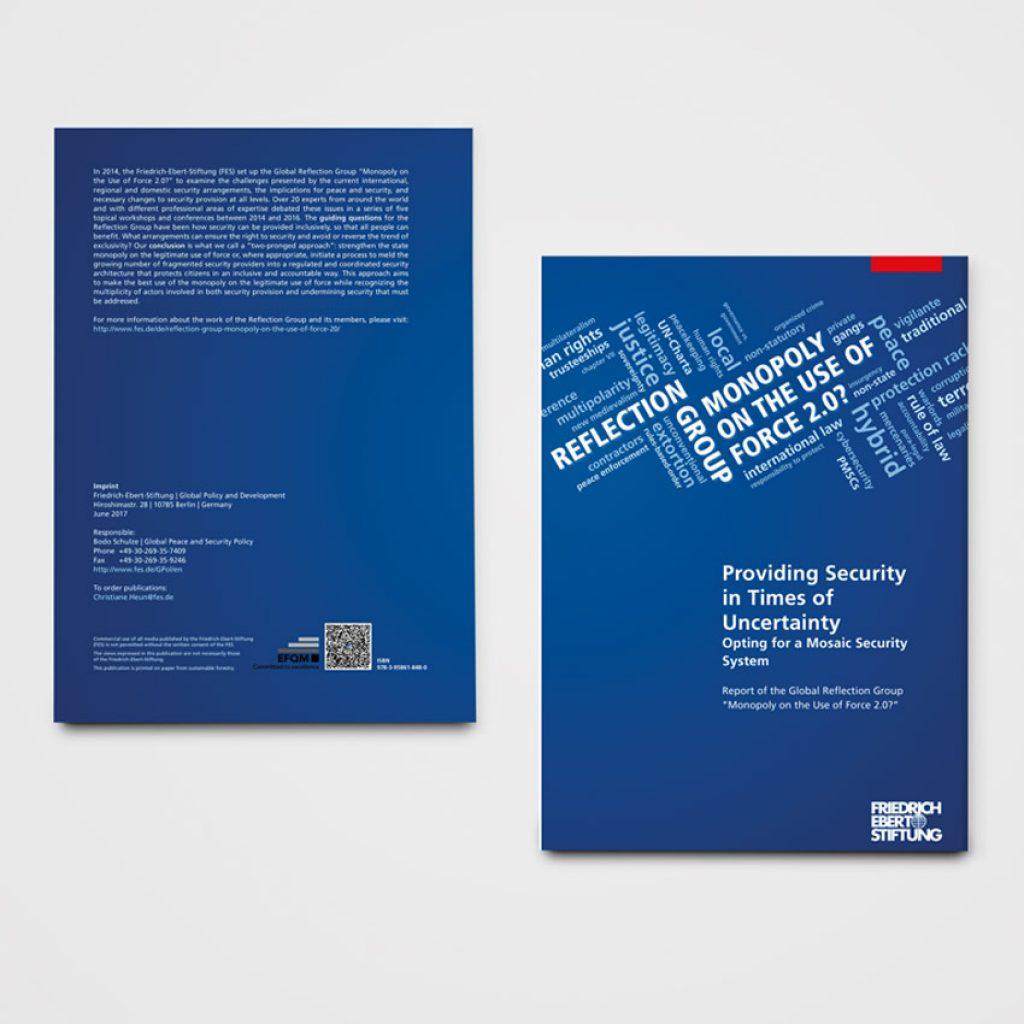 Key Visual und Publikationen für die FES für das Projekt Reflection Group