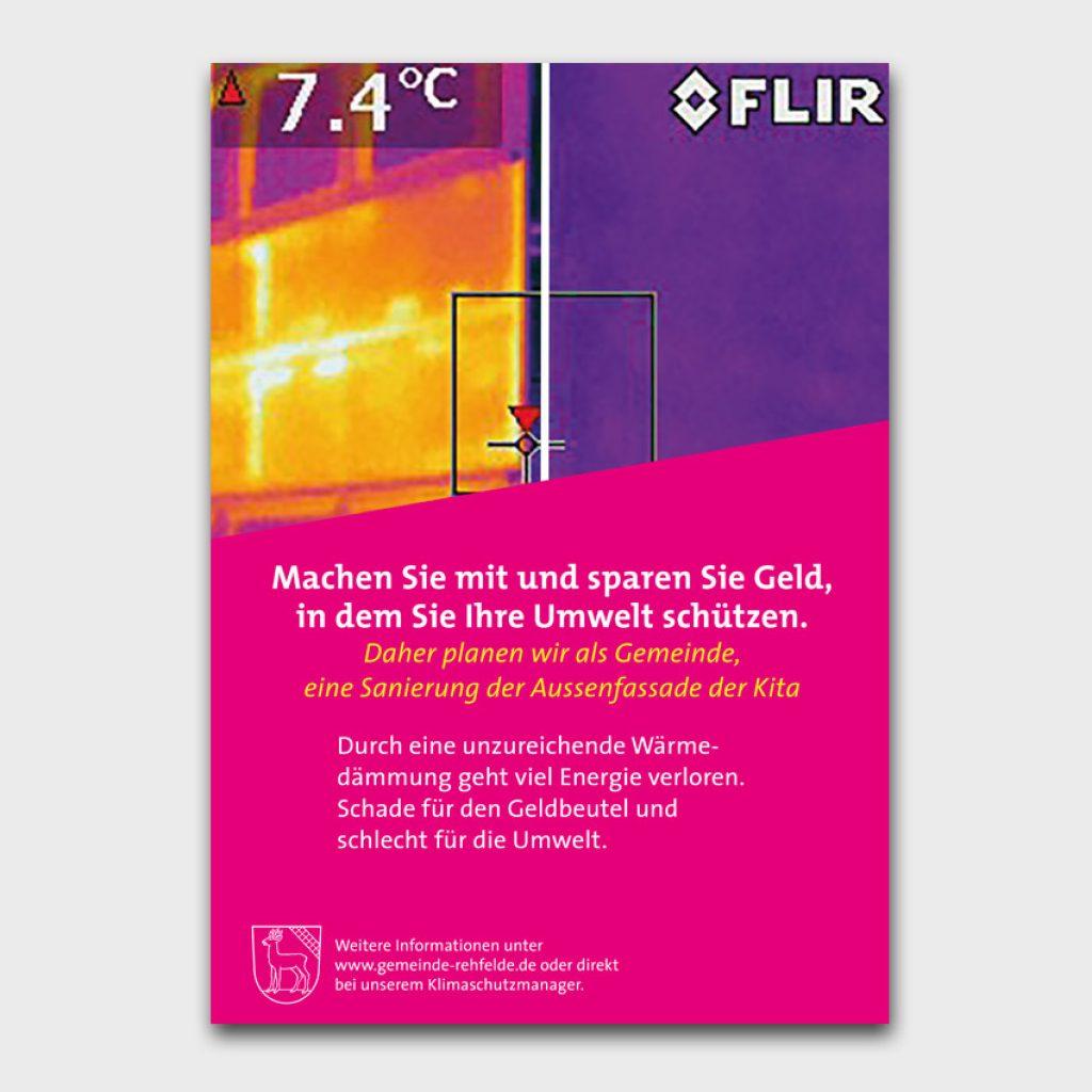 Plakatserie für das Energieprojekt der Gemeinde Rehfelde
