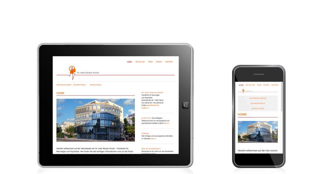 Relaunch der Webseite für Dr. med. Anvari