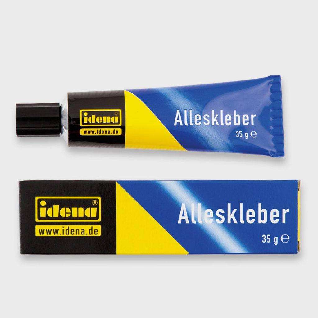 Verpackungsdesign für die Produkte der Idena Klebeserie